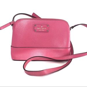 Kate Spade Handbag Purse Hot Pink Dome Crossbody